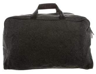 Prada Leather Trimmed Duffle Bag