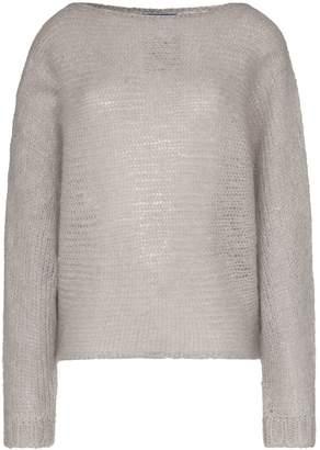 Simon Miller batwing sleeve knitted mohair wool jumper
