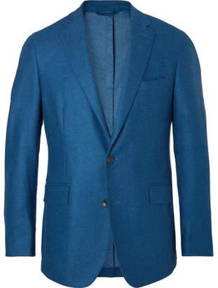 Hackett Blue Slim-Fit Wool Blazer