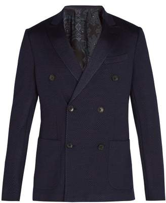 Etro - Nuovo Jersey Wool Silk Blend Blazer - Mens - Blue