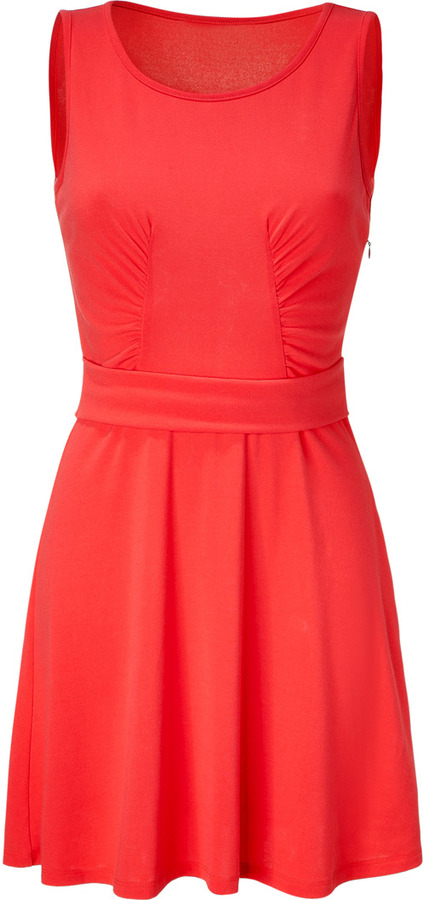 Vanessa Bruno Athé Hot Coral Tank Dress