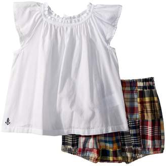 Ralph Lauren Top Madras Bloomer Set Girl's Active Sets