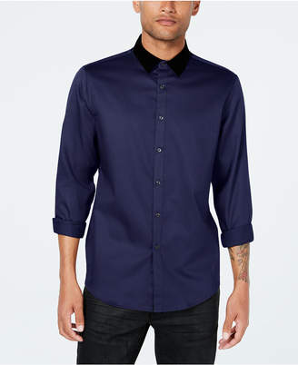 INC International Concepts Inc Men's Velvet Collar Shirt