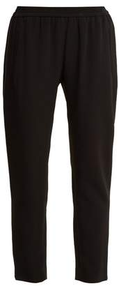 Stella McCartney Tamara Tapered Leg Stretch Crepe Cady Trousers - Womens - Black
