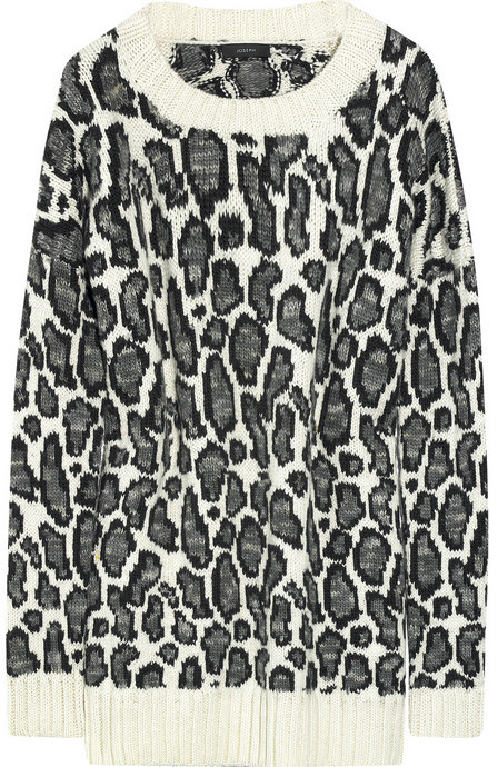 Joseph Leopard-print wool sweater
