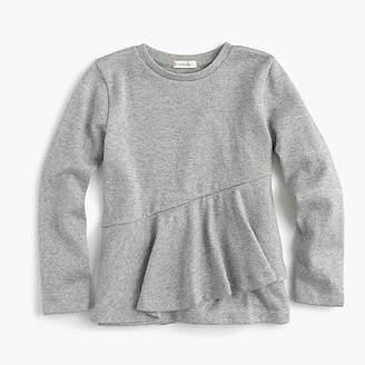 J.Crew Girls' ruffled long-sleeve T-shirt in shimmer