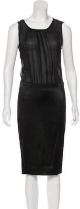 Dolce & Gabbana Silk Midi Dress Black Silk Midi Dress