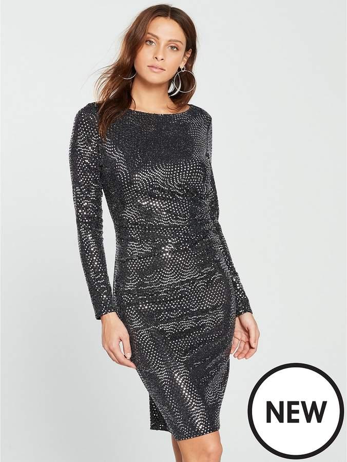 Wave Sparkle Dress - Silver