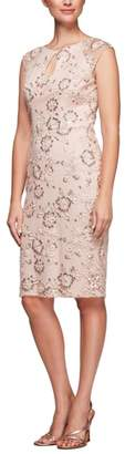Alex Evenings Embroidered Sheath Dress