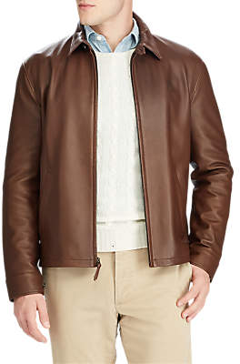 Ralph Lauren Polo Maxwell Leather Jacket, Bison Brown