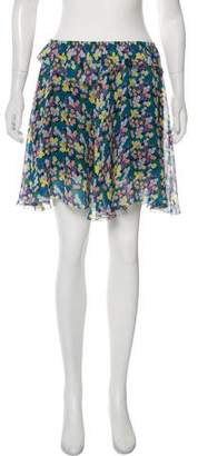 Band Of Outsiders Floral Mini A-Line Skirt