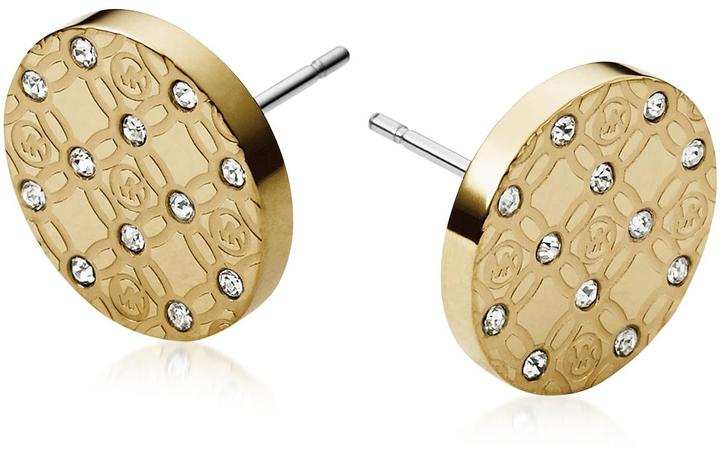 MICHAEL Michael Kors Michael Kors Heritage Metal Earrings w/Crystals