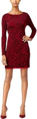 MICHAEL Michael Kors Womens Matte Jersey Printed Mini Dress Red M