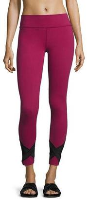 Beyond Yoga Crop X-Marked Mesh Legging, Merlot $110 thestylecure.com