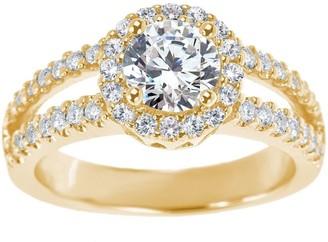 Affinity Diamond Jewelry Diamond Halo Ring, 14K Gold 1-1/4 cttw, by Affinity