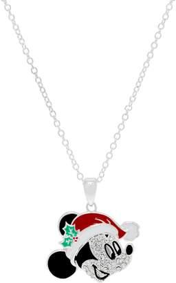 "Disney Mickey's 90th Birthday Christmas Mickey Pendant w/ 18"" Chain"