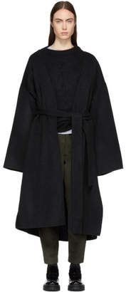 Acne Studios Black Poncho Coat