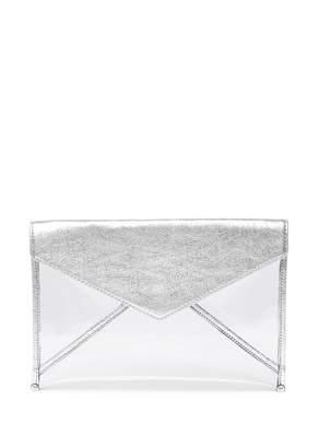 Rebecca Minkoff Leo Metallic Leather & Clear Clutch