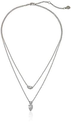 Nicole Miller Double Layer Marquise/Pear Necklace