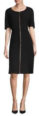 Lafayette 148 New York Eden Zip-Front Wool Dress