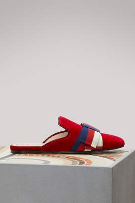 Gucci Velvet slippers with Sylvie bow