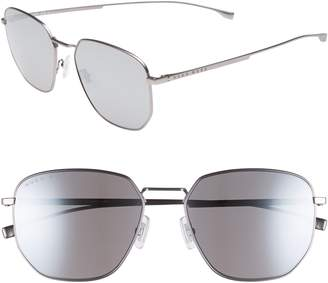BOSS Special Fit 58mm Polarized Titanium Aviator Sunglasses