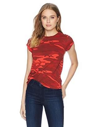 Pam & Gela Women's RED CAMO Short Sleeve Basic TEE