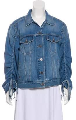 Kenzo Drawstring-Sleeve Denim Jacket