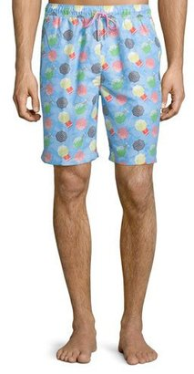 Peter Millar Umbrella-Printed Swim Trunks, Blue $85 thestylecure.com