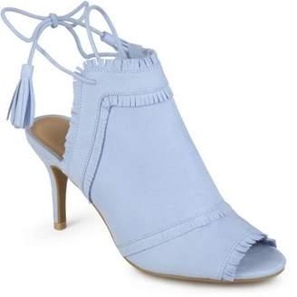 Co Brinley Womens Fringe Tassle Faux Suede High Heels