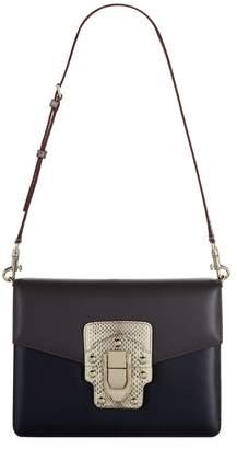 Dolce & Gabbana Snakeskin and Leather Shoulder Bag