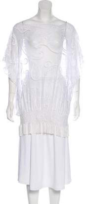Trina Turk Short Sleeve Sheer Cover-Up