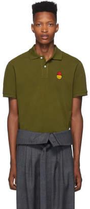 Ami Alexandre Mattiussi Green Smiley Edition Polo