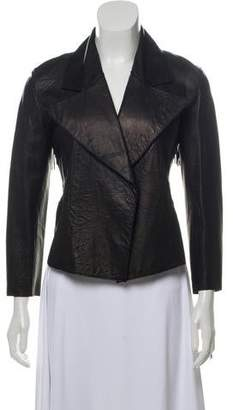 Jarbo Fringe-Trimmed Leather Jacket