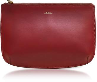 A.P.C. Red Leather Sarah Pouch