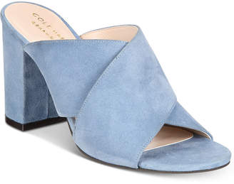 Cole Haan Gabby Slip-On Block-Heel Sandals