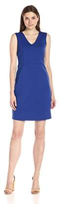 Lark & Ro Women's Sleeveless V-Neck Sheath Dress
