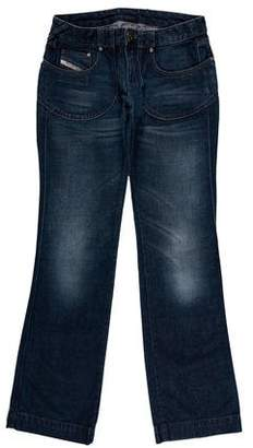 Diesel Low-Rise Wide-Leg Jeans