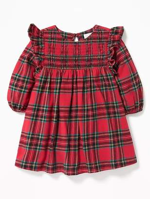 Old Navy Plaid Ruffle-Trim Dress for Baby