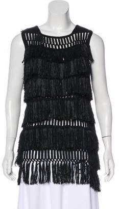 Maiyet Sleeveless Fringed Top w/ Tags