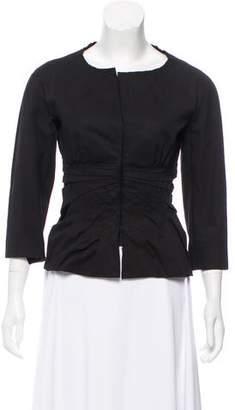 Prada Gathered Long Sleeve Jacket