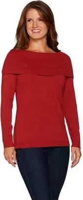 Belle By Kim Gravel Belle by Kim Gravel Off the Shoulder Long Sleeve Sweater