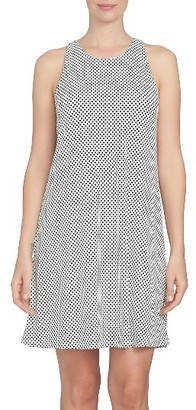 Women's Cece Polka Dot Twist Back Knit Shift Dress $99 thestylecure.com