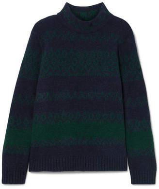 A.P.C. Saskia Wool And Cashmere-blend Turtleneck Sweater - Navy