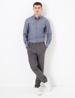 Marks and Spencer Cotton Easy Iron Tailored Fit Oxford Shirt