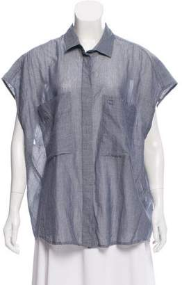 IRO Oversize Button Up Top