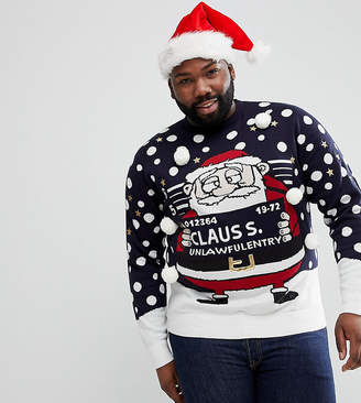 Brave Soul PLUS Holidays Naughty Santa Sweater