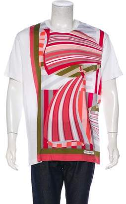 Salvatore Ferragamo Abstract Patterned T-Shirt