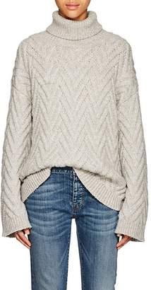 Nili Lotan Women's Lee Cable-Knit Wool-Blend Turtleneck Sweater