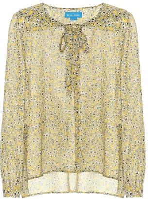 MiH Jeans Alma floral-printed silk shirt